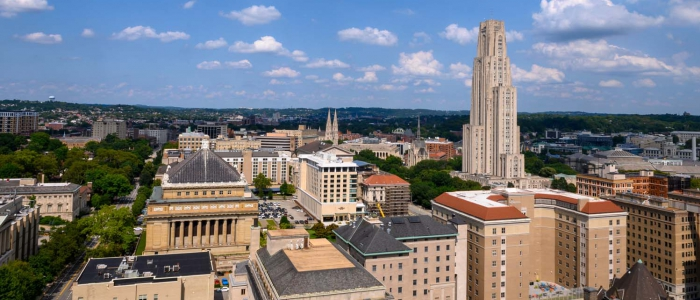A view of the Pitt campus